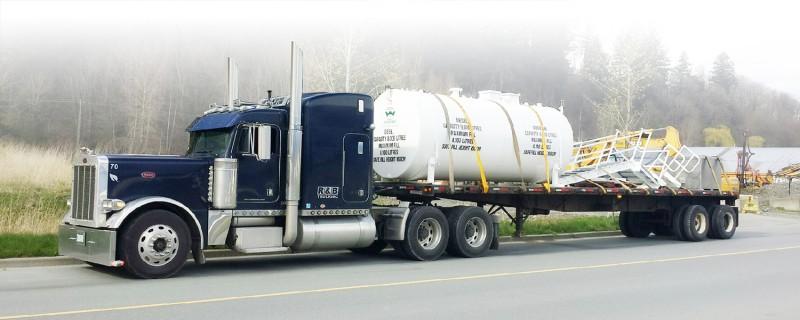 R & B Trucking Flat Deck Transportation