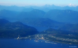 Powell River Aerial photo