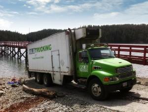 R & B Trucking on Cortes Island