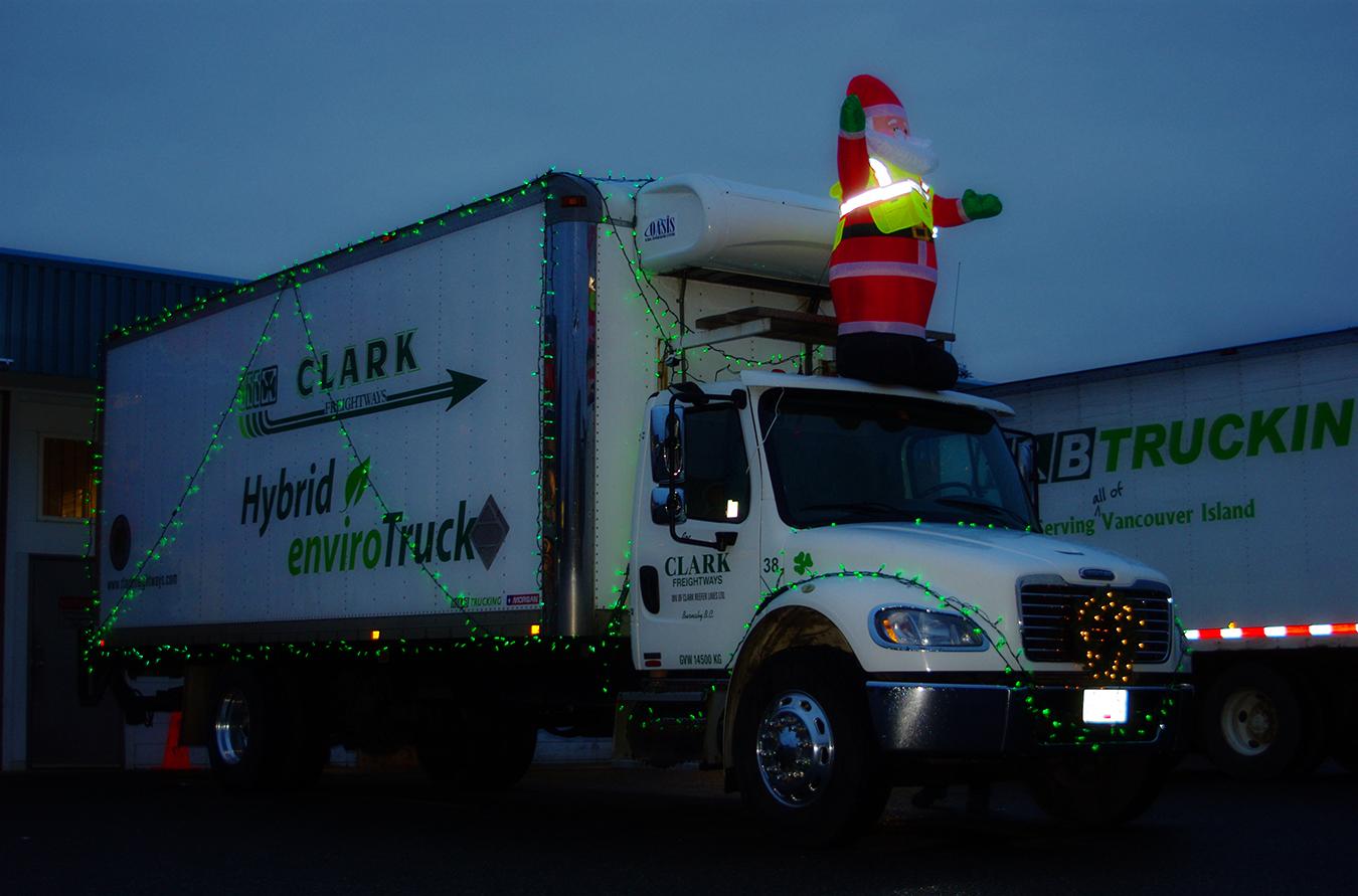 Decorated Hybrid Truck